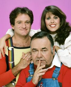 Mork and Mindy 1978 - 1982,  Mork - Robin Williams ,  Mindy McConnell - Pam Dawber,  Merth -  Jonathan Winters