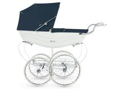 Shop for Silver Cross Balmoral Hand-Crafted Pram Stroller - White/Navy at SilverCross. The Silver Cross Balmoral is the definitive luxury pram, still crafted by hand in Yorkshire using traditional methods. Vintage Pram, Look Vintage, Vintage Stroller, Vintage Silver, Pram Stroller, Baby Strollers, Silver Cross Prams, Prams And Pushchairs, Baby Buggy