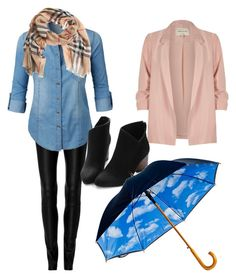 """Rainy days"" by oespinal on Polyvore featuring moda, Zeynep Arçay, LE3NO, River Island y Burberry"