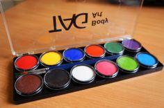 Аквагрим TAG набор 12 регулярных цветов по 10 гр.