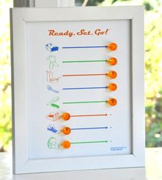 Ready, Set, Go board helps your kids get ready for the day