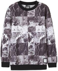 SYSTVM Grey printed jersey sweatshirt