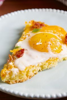 Cornbread Breakfast Pizza - I'm thinking there's probably a way to make your instant grits work for this?