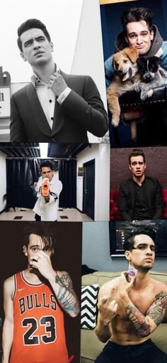 Tried making my first college! Idk I think it looks pretty (odd) good! Panic At The Disco Lyrics, Panic! At The Disco, Emo Bands, Music Bands, Jon Walker, Spencer Smith, My Little Corner, Best Night Ever, Dallon Weekes