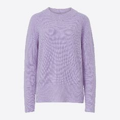 Mads Norgaard  Light Purple Cashmere Lamb Kula Jumper: Light purple cash lamb kula jumper. The lavender purple is sure to freshen up any look, and the heavy ribbed knit made from a super high quality lambswool and cashmere blend.