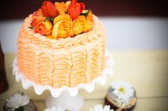 "Orange ""ribbon"" cake    applebrides.com"