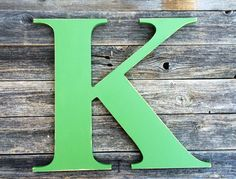 """Letter K  Large wooden  24"""" distressed edges hand painted custom capital alphabet. Use as Guest Book for Wedding, Reception or Wedding Photo by ASimplePlaceOnMain on Etsy"""