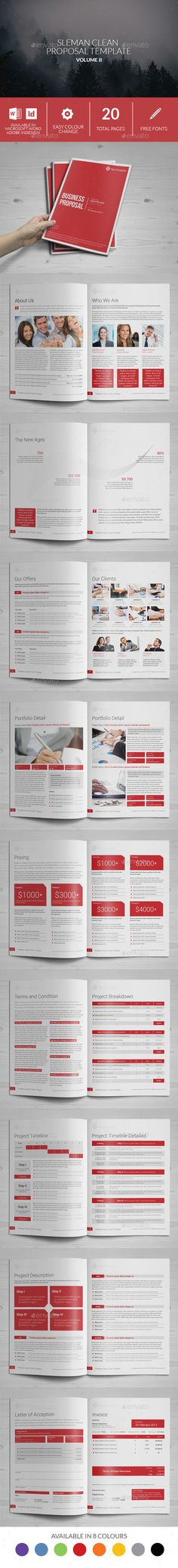 Sleman Clean Proposal Template Proposal templates, Proposals and - product sales proposal template