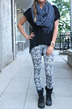 Tribal Leggings #Leggings #Aztec #Fall