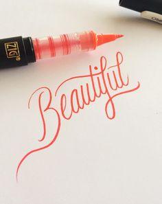 Lettering byMatt Vergotis Medium used:Kuretake Zig Letter Pen CocoIro Pen Body - Real Black Kuretake Zig Letter Pen CocoIro Pen Refill - Super Fine - Red