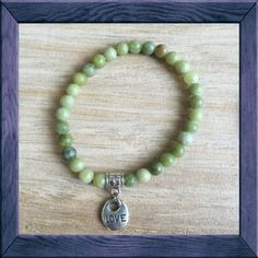 #HARMONY Yoga Mala: #LOVE #Charm Bracelet - #JADE is a stone of harmony - said to #bless whatever it touches.
