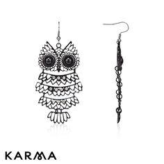 Karma statement owl earrings £8