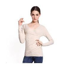 $25.99 Sexy V-Neck Pullover Fleece Wool Sweater with Diamonds