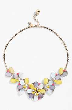 """""""bungalow bouquet"""" necklace from kate spade new york - love the name!"""