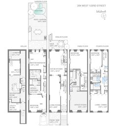 manhattan brownstone floor plans. manhattan. home plan and house