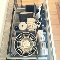 samaさんの、整理収納部,すっきりとした暮らし,無印良品,シンク下収納,貝印,キッチン,のお部屋写真