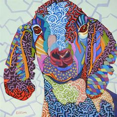 contemporary goat painting by Carolee Clark