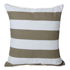 Canvas Striped Throw in Almond Metallic Cushions, Striped Cushions, Throw Pillow Cases, Throw Pillows, Almond, Indoor, Canvas, Collection, Interior