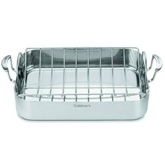 Cuisinart MultiClad Pro Stainless 16-inch Rectangular Roaster with Rack, Silver stainless steel (Metal)