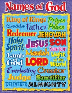 Names of God Learning Chart (Set of 3)