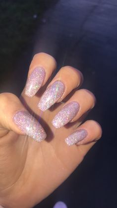 Discovered by cheekylexi. Find images and videos about nails, glitter and nail art on We Heart It - the app to get lost in what you love. Sparkly Acrylic Nails, Glittery Nails, Summer Acrylic Nails, Best Acrylic Nails, Pastel Nails, Red Sparkle Nails, Summer Nails, Aycrlic Nails, Hair And Nails