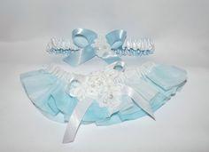 One of a kind hand dyed aqua blue and white #wedding #garter set accented with French alencon lace  Wedding garter set in vintage Japanese chiffon in shades of blue tie dye a... #bride #bridal #weddings #ido #bridalgarter #weddinggarterbelt ➡️ http://jto.li/82CB8