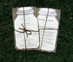 Rustic Burlap Wedding Programs 100 by Rusticpapers on Etsy, $155.00
