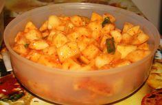 KOREAN RECIPES | Korean food photo: Cubed radish kimchi (Kkakdugi: 깍뚜기 ...