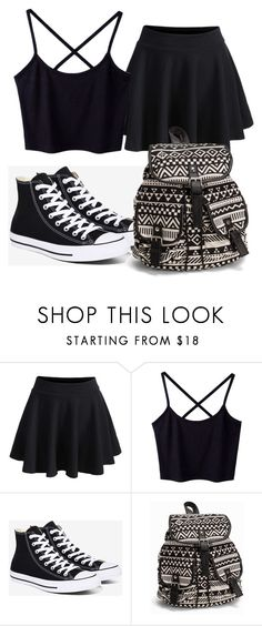 """""""Untitled #8"""" by zanaya2455 on Polyvore featuring WithChic, Converse and NLY Accessories"""