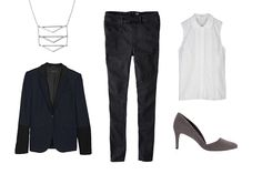 Denim For An Interview? You Gotta Try This Look #refinery29  http://www.refinery29.com/high-rise-jegging