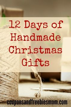 Homemade Christmas Gifts: 12 Simple Handmade Holiday Presents! 12 EASY and inexpensive DIY gifts that are perfect for this holiday season! Don't spend a fortune on Christmas gifts! Check out these beautiful, fun, and easy homemade gift ideas right now!