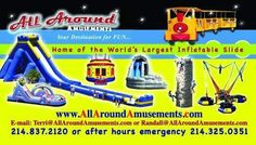 Looking for something FUN and exciting for your Birthday Party, Corporate Event, Festival, City, team building, church functions, kids parties, fundraisers, school event, Daycare event, fun event or State Fair this weekend? There's not an event too big or too small that we can't handle.  ********************************* #worldstallestinflatablewaterslide #bouncehouses #obstaclecourses #inflatablewaterslides #inflatabledryslides #climbingwalls #dunktankscarnivalrides #tents…