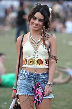 Vanessa hudgens fashion style... totally going to make a thigh chain like this one day