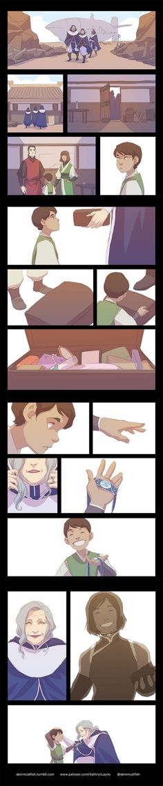 Inheritance by kathrynlayno (I do not ship Korrasami, but this is freaking adorable)