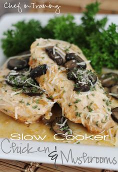 Slow Cooker Chicken and Mushrooms | Chef in Training