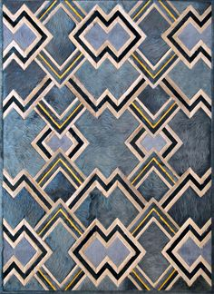 Ipanema  Contemporary, Hide, Rug by Kyle Bunting