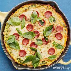 Ricotta Frittata Pepperoni Pizza.