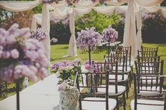 outdoor lilac wedding ceremony Sugar and Soul Photography. this is the shade of purple I want for flowers.