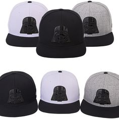 Unisex Mens Womens STAR WARS Darth Vader Face Baseball Hiphop Snapback Hats Caps #hellobincom #BaseballSnapbackCapHats