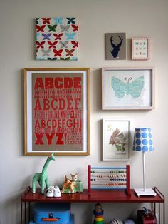 Baby's room? Red and light blue is a perfect gender neutral pallet