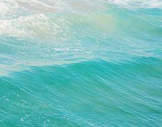beach photography, peppermint blue winter decor, ocean wave, water, seaside, beach home, aqua blue, cyan, California art, Myan Soffia on Etsy, $32.00