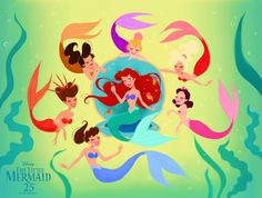 Disney Princess Fanart - Ariel - The Little Mermaid Disney Little Mermaids, Ariel The Little Mermaid, Disney Girls, Disney Kunst, Arte Disney, Disney Magic, Disney Nerd, Disney Fan Art, Disney Movies