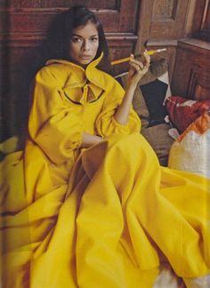 Bianca Jagger wearing Zandra Rhodes