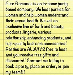 Let's have fun Pure Romance Style! Pure Romance By Lisa Rosengrant
