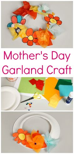 Make a flower garland for Mother's Day with this easy guide!
