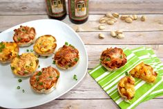 Superbowl Game Day Appetizers: Bacon Mac and Cheese Cups Recipe