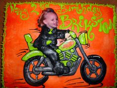Little boy's Biker/Motorcycle Theme Birthday; Cheri's Bakery Wichita, KS