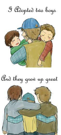 Bobby and his boys #Supernatural