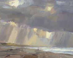 Seascape #21 Autumn sky and rain, 24x30 cm, Roos Schuring, 2011 Zeegezicht http://roosschuring.blogspot.com/