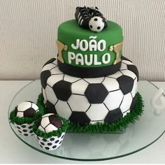 I Soccer Birthday Parties, Soccer Party, 5th Birthday, Birthday Cake, Soccer Banquet, Sports Themed Cakes, Dessert Table, Soccer Cakes, Baking